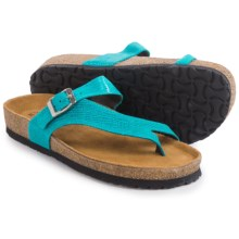 Naot Tahoe Leather Sandals (For Women) in Aquamarine Leather - Closeouts