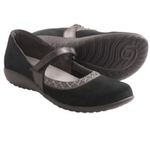 Naot Timaru Shoes - Suede (For Women) in Black/Shadow Grey - Closeouts