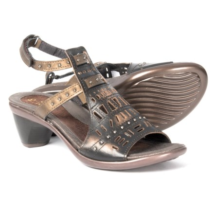 b5fb360797e7 Naot Vogue Leather Sandals (For Women) in Volcanic Brown Grecian Gold