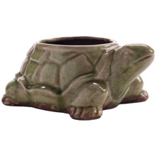 Napa Home & Garden Big Daddy Turtle Planter Pot in Green - Closeouts