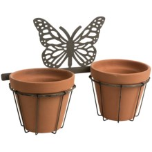 Napa Home & Garden Butterfly Wall Flower Pots in Terracotta - Closeouts