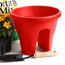 "Napa Home & Garden Corsica Flower Bridge Planter - 12"" in Red - Closeouts"