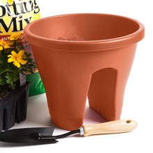 "Napa Home & Garden Corsica Flower Bridge Planter - 12"" in Terracotta - Closeouts"