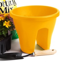 "Napa Home & Garden Corsica Flower Bridge Planter - 12"" in Yellow - Closeouts"