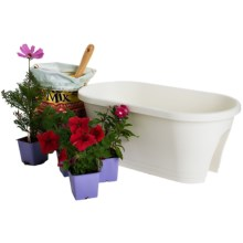 "Napa Home & Garden Corsica Flower Bridge Planter - 24"" in White - Closeouts"