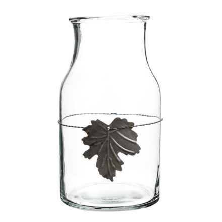 Napa Home & Garden Harvest Leaf Glass Jar in Clear - Closeouts