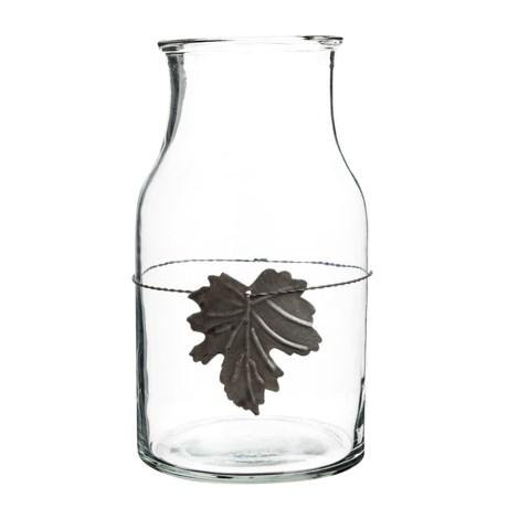 Napa Home & Garden Harvest Leaf Glass Jar in Clear