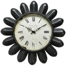 "Napa Home & Garden Hotel Duvaleix Petal Wall Clock - 24"" in Black - Closeouts"
