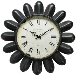 "Napa Home & Garden Hotel Duvaleix Petal Wall Clock - 24"" in Black"