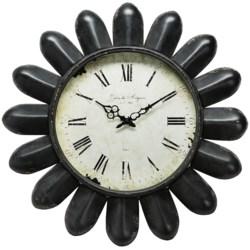 "Napa Home & Garden Hotel Duvaleix Petal Wall Clock - 24"" in Black"
