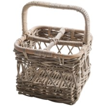 Napa Home and Garden Normandy Rattan 4-Bottle Wine Caddy in Grey - Closeouts
