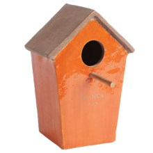 Napa Home & Garden Organic Sunny Birdhouse - Wall Mount, Ceramic in Orange - Closeouts