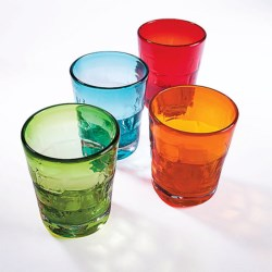 Napa Home & Garden Penelope's Multicolored Glasses - Set of 4 in Multi-Colored