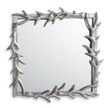 """Napa Home & Garden Teton Mirror - 13x13"""", Polished Cast Aluminum in Silver - Closeouts"""