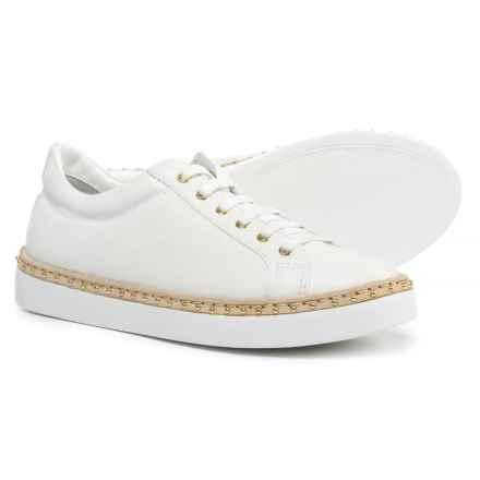 Napoleoni Made in Italy Leather Welt Sneakers  (For Women) in White - Closeouts