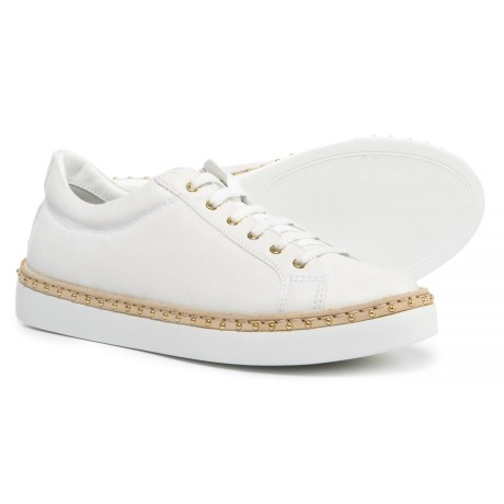 Napoleoni Made in Italy Leather Welt Sneakers  (For Women) in White