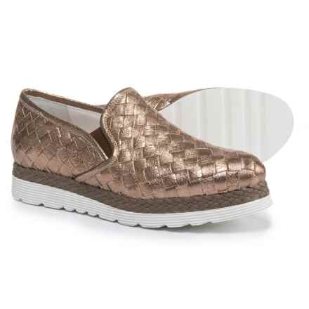 Napoleoni Made in Italy Woven Leather Shoes - Slip-Ons (For Women) in