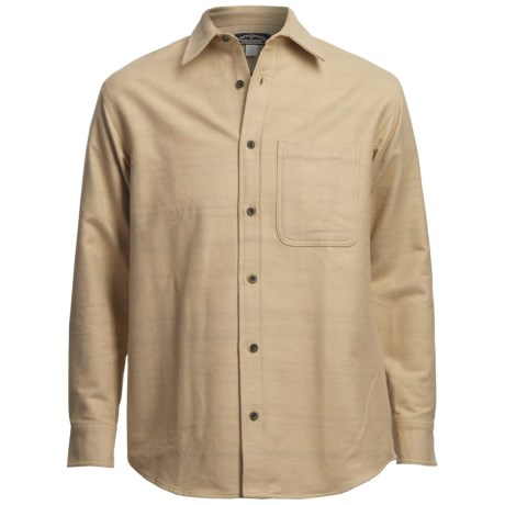 Narragansett Trader Chamois Shirt - Long Sleeve (For Men) in Tan