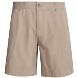 Narragansett Trader Cotton Canvas Shorts (For Men) in Khaki
