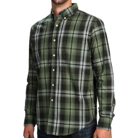 Narragansett Trader Cotton Plaid Shirt Long Sleeve For