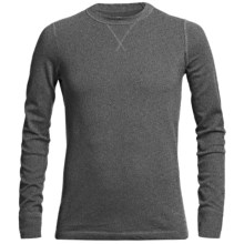 Narragansett Trader Waffled Thermal Cotton Shirt - Long Sleeve (For Men) in Dark Heather Grey - Closeouts