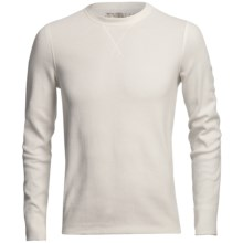 Narragansett Trader Waffled Thermal Cotton Shirt - Long Sleeve (For Men) in Ivory - Closeouts