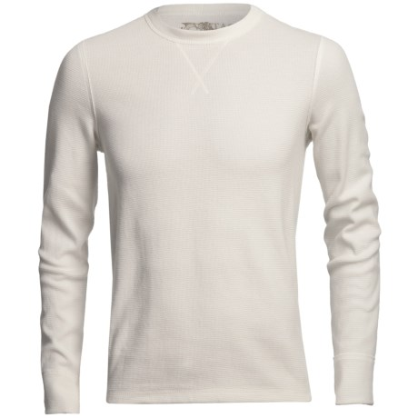Narragansett Trader Waffled Thermal Cotton Shirt - Long Sleeve (For Men) in Ivory