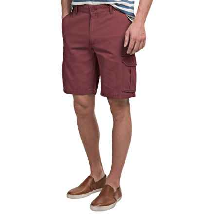 Narragansett Traders Cargo Shorts (For Men) in Burgandy - Closeouts