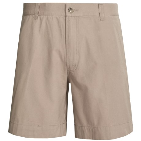 Narragansett Traders Cotton Canvas Shorts (For Men) in Khaki