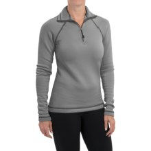 Narragansett Traders Microfleece Pullover Shirt - Zip Neck, Long Sleeve (For Women) in Charcoal Grey - Closeouts