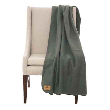 "Narragansett Traders Oversized Fleece Throw Blanket - 60x80"" in Grey - Closeouts"