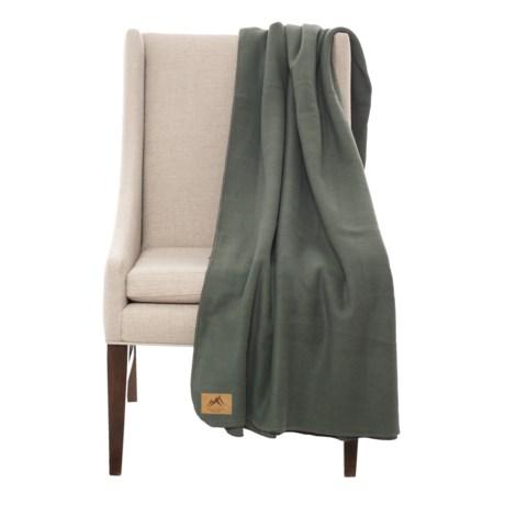 "Narragansett Traders Oversized Fleece Throw Blanket - 60x80"" in Grey"