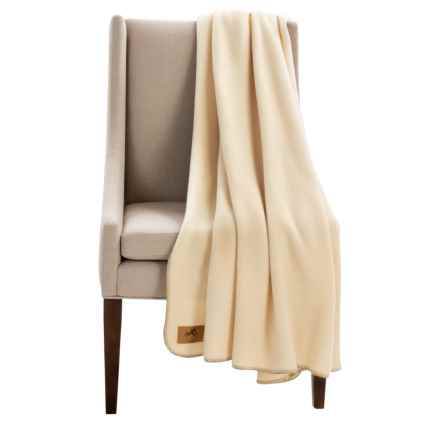 "Narragansett Traders Oversized Fleece Throw Blanket - 60x80"" in Ivory - Closeouts"