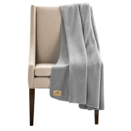 "Narragansett Traders Oversized Fleece Throw Blanket - 60x80"" in Light Grey"