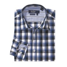 Nat Nast American Fit Plaid Sport Shirt - Long Sleeve (For Men) in Black Naval Blue - Closeouts