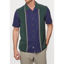 Nat Nast Arbus Silk Panel Shirt - Short Sleeve (For Men) in Blue Black - Closeouts