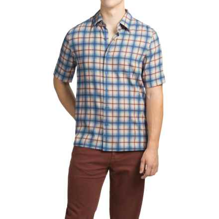 Nat Nast Austin Shirt - Silk-Cotton, Short Sleeve (For Men) in Iris - Closeouts