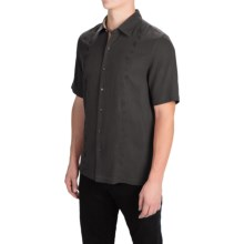 Nat Nast Canon Camp Shirt - Silk-Cotton, Short Sleeve (For Men) in Black - Closeouts