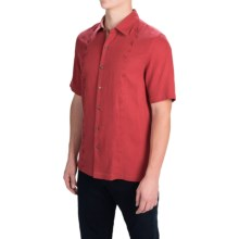 Nat Nast Canon Camp Shirt - Silk-Cotton, Short Sleeve (For Men) in Garnet - Closeouts