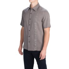 Nat Nast Canon Camp Shirt - Silk-Cotton, Short Sleeve (For Men) in Zinc - Closeouts
