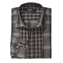 Nat Nast Cigar Shadow Panel Sport Shirt - American Fit, Long Sleeve (For Men) in Cigar - Closeouts