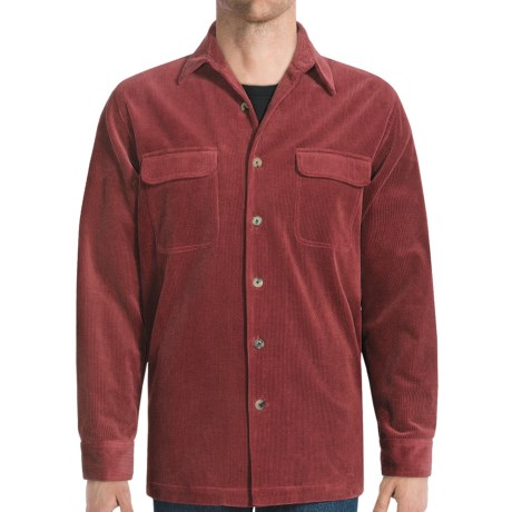 Nat Nast Corduroy Shirt Jacket - 10-Wale (For Men) in Pinot