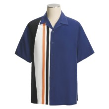 Nat Nast For Sail Camp Shirt - Silk, Short Sleeve (For Men) in Indigo/Black - Closeouts