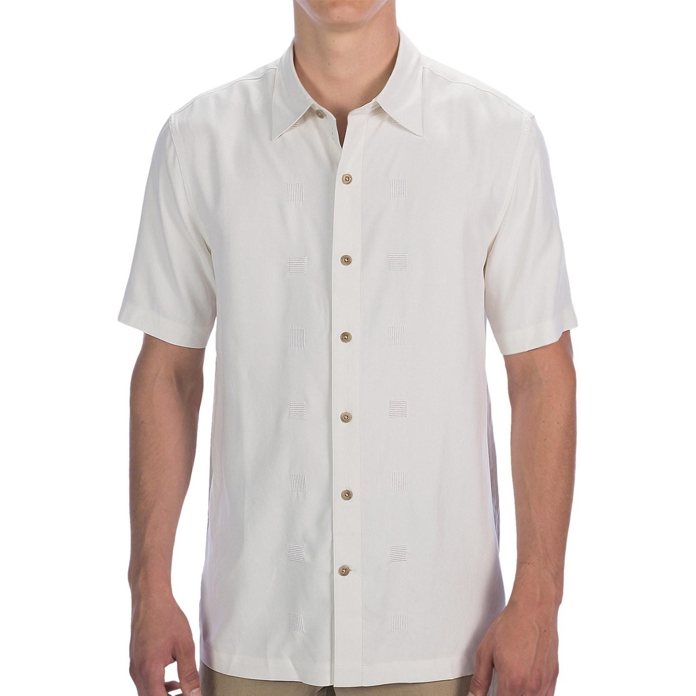Nat nast houston silk twill camp shirt short sleeve for for Mens short sleeve camp shirts