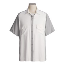 Nat Nast Jazz Man Camp Shirt - Silk, Short Sleeve (For Men) in Smoke/White - Closeouts
