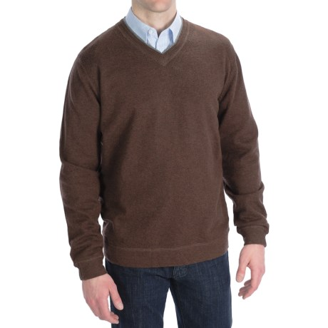 Nat Nast On a Roll Sweater - V-Neck (For Men) in Mahogany Combo