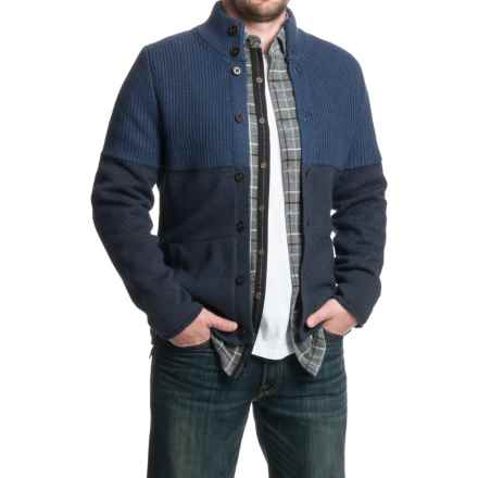 Nat Nast Only On Sunday Cardigan Sweater - Button Front (For Men) in Cadet - Closeouts