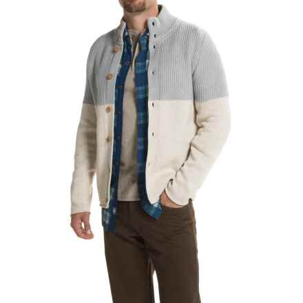 Nat Nast Only On Sunday Cardigan Sweater - Button Front (For Men) in Ivory - Closeouts