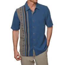 Nat Nast Prince Silk Shirt - Short Sleeve (For Men) in China Blue - Closeouts