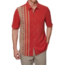 Nat Nast Prince Silk Shirt - Short Sleeve (For Men) in Garnet - Closeouts